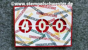 Glückwunsch zur 400. In{k}spire me Challenge
